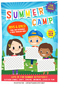 istock kids summer camp education advertising poster flyer template 1171416142