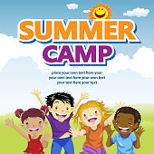Heading to kids summer camp for meeting new friends and learning new skills