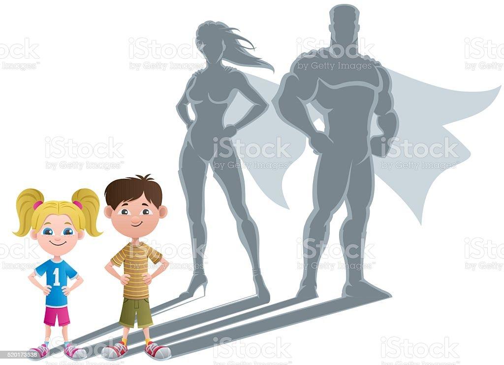 Kids Superhero Concept 2 vector art illustration