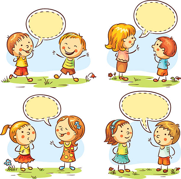 Royalty Free Child Talking Clip Art, Vector Images ...