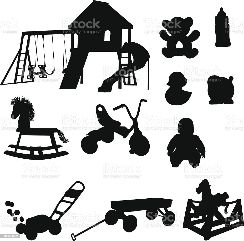 Kids Toy Silhouette Collection Stock Vector Art & More ...