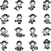 Set of 16 Kids toys icons. JPG file and EPS8 file.