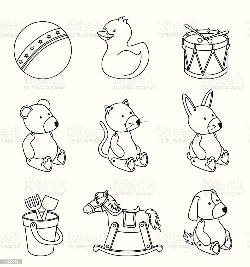 kids toys royalty-free stock vector art