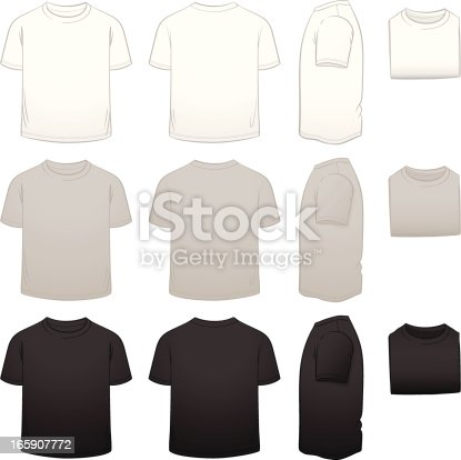 istock Kids' T-shirt Template Package 165907772