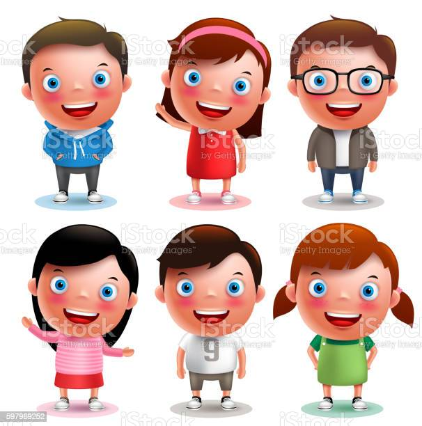 Kids vector characters boys and girls set with different outfits vector id597969252?b=1&k=6&m=597969252&s=612x612&h=gxrgp988iy9y88gjhhzhpegws7nmdm qvhu 8ehkioc=