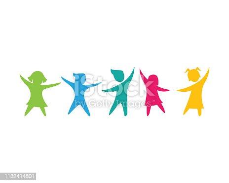 kids concept vector illustration icon design
