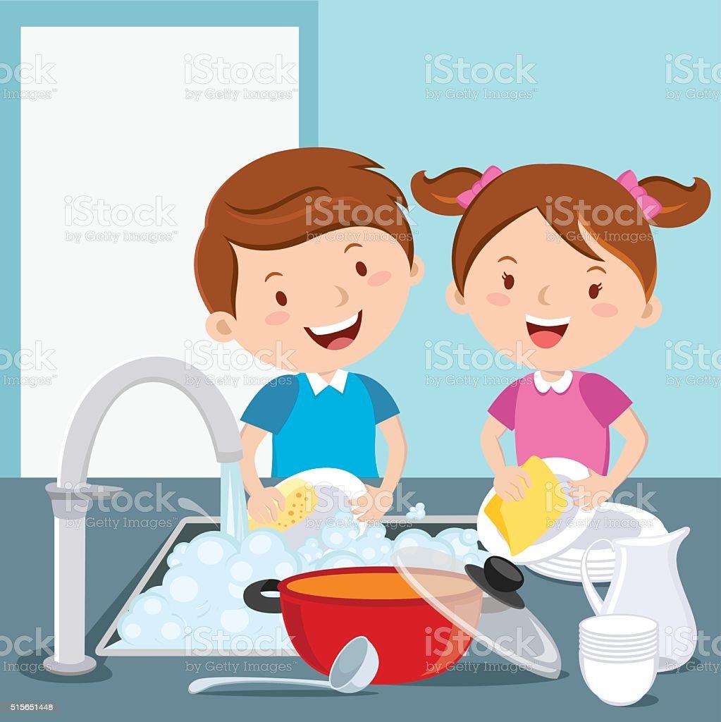 royalty free washing dishes clip art  vector images chord clip art chores clip art free