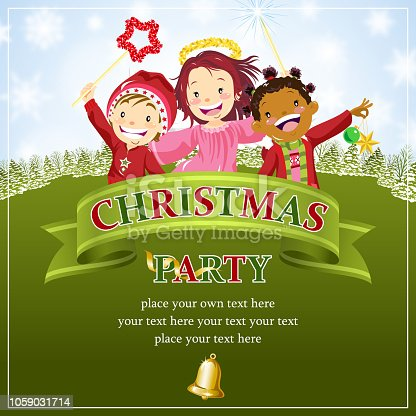 istock Kids With Christmas Celebration Scroll 1059031714