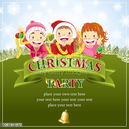 istock Kids With Christmas Celebration Scroll 1061941870