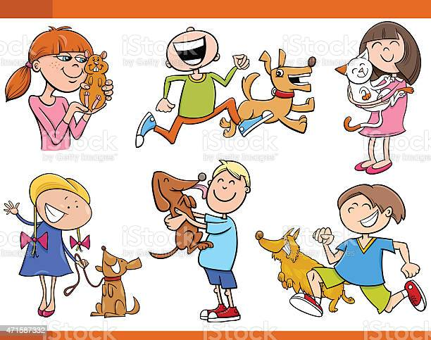 Kids with pets cartoon set vector id471587332?b=1&k=6&m=471587332&s=612x612&h=igpajmxsov0rtt bkbvzl1zb08jb2n0mm8l4rtbwaqm=