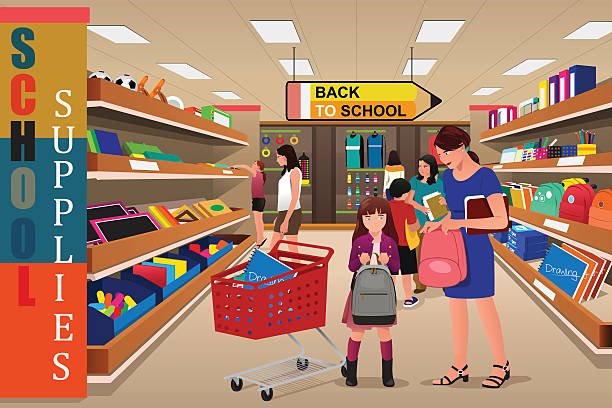 Ihram Kids For Sale Dubai: Best Back To School Shopping Illustrations, Royalty-Free