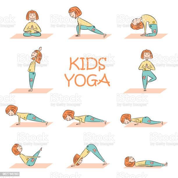 Kids yoga set with cute cartoon girl vector id962788260?b=1&k=6&m=962788260&s=612x612&h=wtqrfb3v5dj8l4nzesi7wxduqobm14kwacggwkrqcvi=