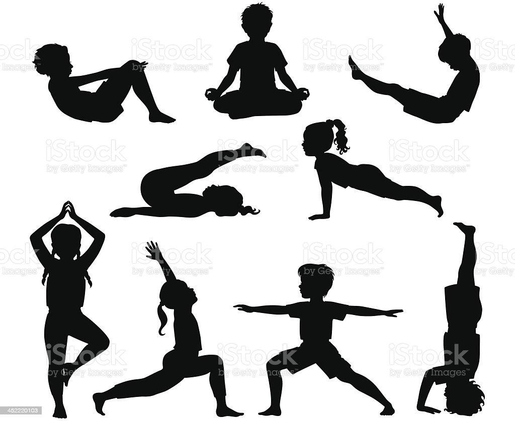 Kids Yoga Stock Illustration Download Image Now Istock