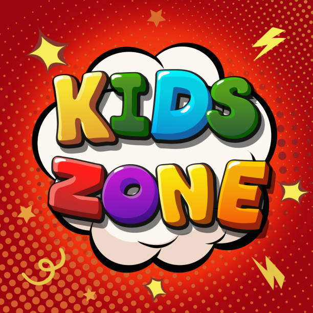 Kids zone banner design. Children playground – Vektorgrafik