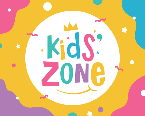 Kids zone banner template