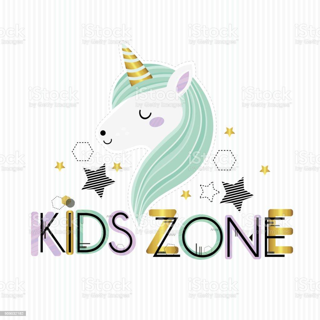 Kids zone. vector art illustration