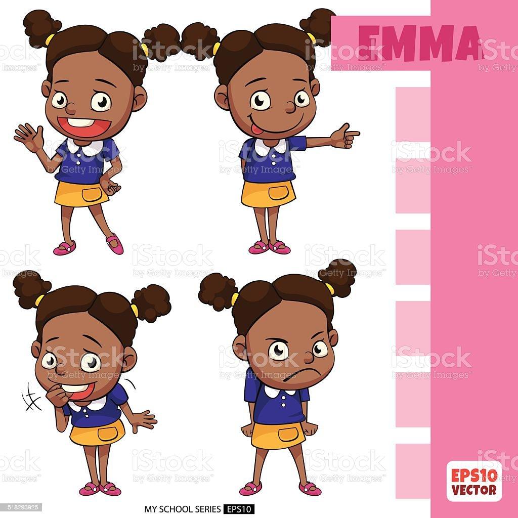 Kids_Emma vector art illustration
