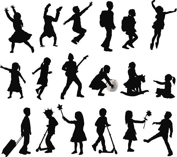 ilustrações, clipart, desenhos animados e ícones de kidscollection - brincadeira