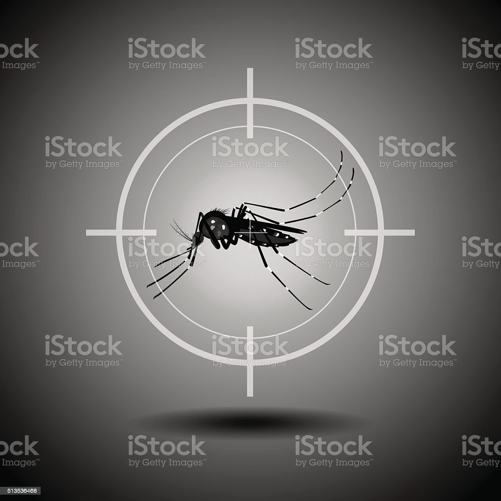 kill mosquito vector art illustration