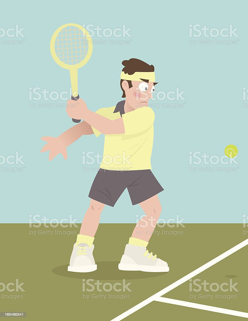 Killer Backhand vector art illustration