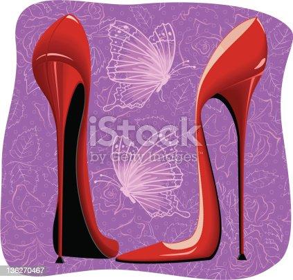 istock Killer high heels red shoes 136270467