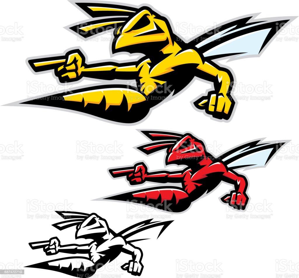 Killer Wasp / Hornet vector art illustration