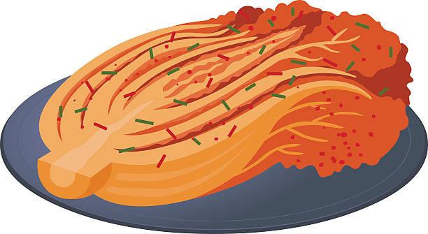 kimchi of korea Vector Illustration kimchee stock illustrations