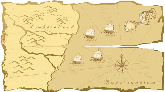 kind of old map vector illustration