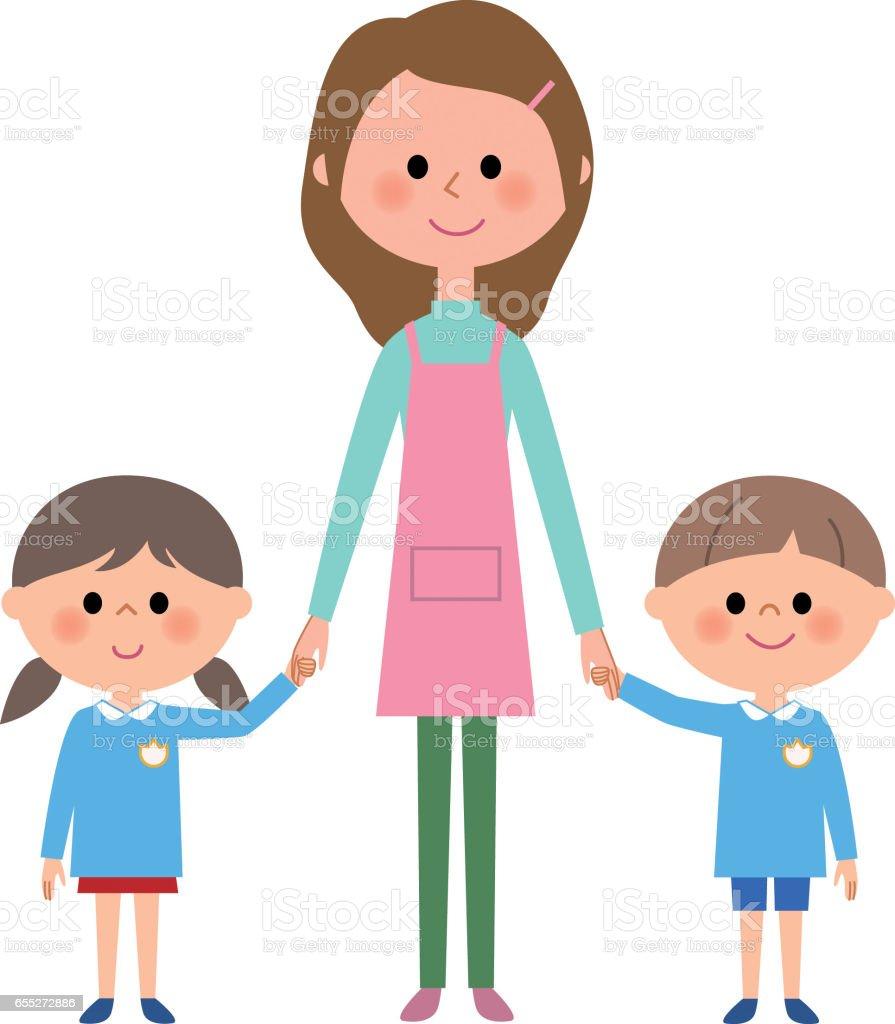 Ni o de jard n de infantes guarder a infantil maestro for Carpetas para jardin de infantes