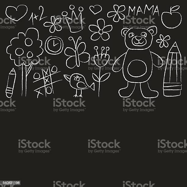 Kindergarten doodle pictures on blackboard vector id540831198?b=1&k=6&m=540831198&s=612x612&h=cbubswg6xmkdzt8sh8xauw byo8cjqdtg4ukuehyxl8=