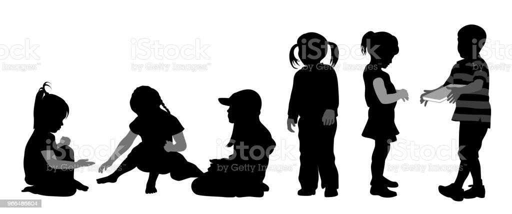 Kindergarten Freunde – Vektorgrafik