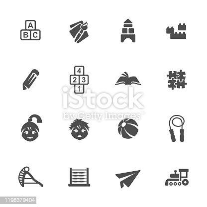 Preschool vector icon set