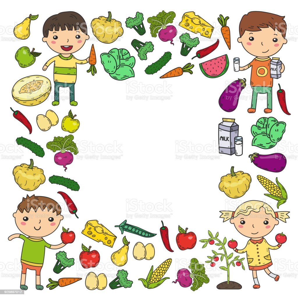 kindergarten vorschule kindergarten kinder essen gesund essen boys und girls mit obst und gem se. Black Bedroom Furniture Sets. Home Design Ideas