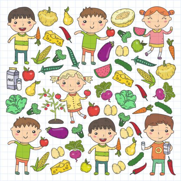 Royalty Free Children Eat Medicine Clip Art Vector Images