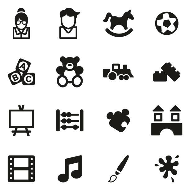 bildbanksillustrationer, clip art samt tecknat material och ikoner med dagis eller dagvård ikoner - abakus