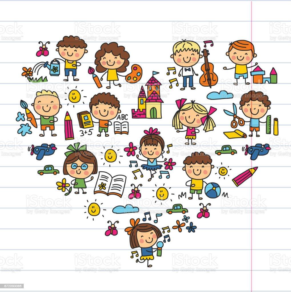 Ecole Maternelle Ecole Education Etude Enfants Jouent Et Grandissent Les Enfants Dessin Dicones Vecteurs Libres De Droits Et Plus D Images Vectorielles De 6 7 Ans Istock