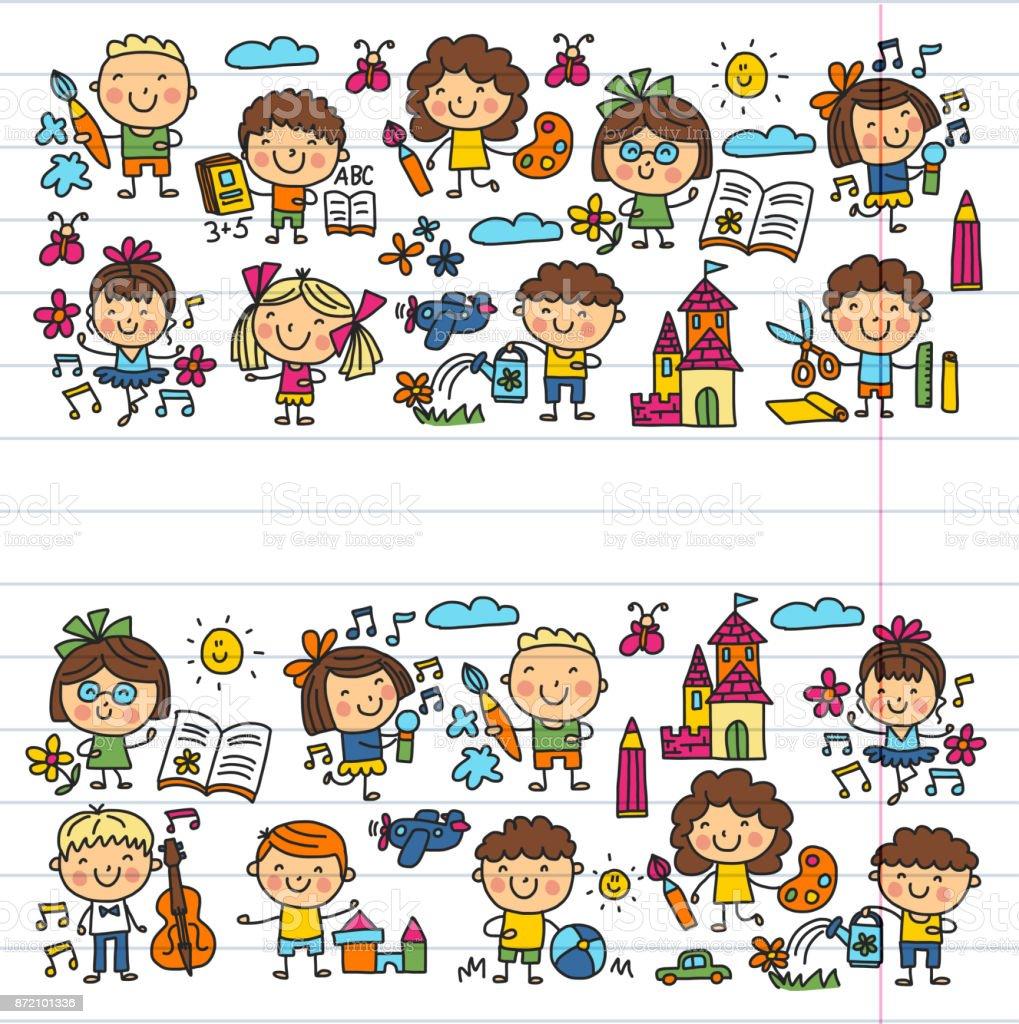Cole maternelle cole ducation tude enfants jouent et grandissent les enfants dessin dic nes - Image d ecole maternelle ...
