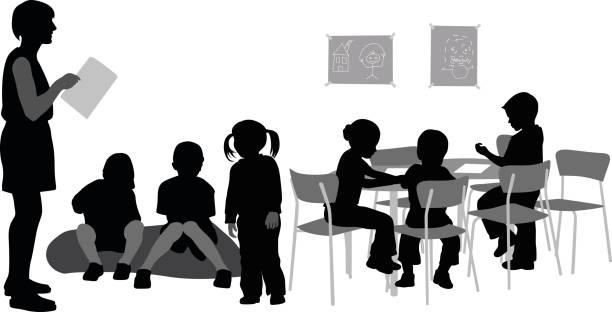 幼稚園児教師 - 保育点のイラスト素材/クリップアート素材/マンガ素材/アイコン素材