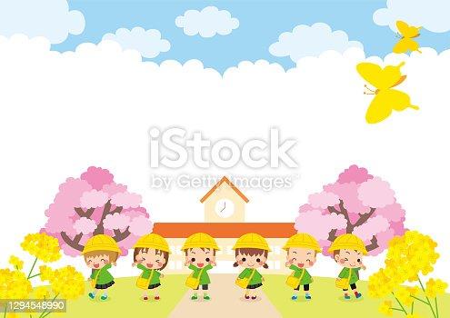 istock Kindergartener in Spring 1294548990
