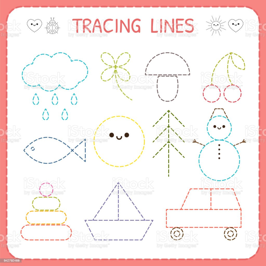 Kindergartens Educational Game For Kids Preschool Tracing ...