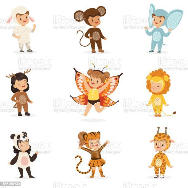 Kinds in animal costume disguise happy and ready for halloween party vector id656180400?b=1&k=6&m=656180400&s=612x612&h=se03hgx6sp5kyadhadzg4si01azmti8yfxli2m9zb i=