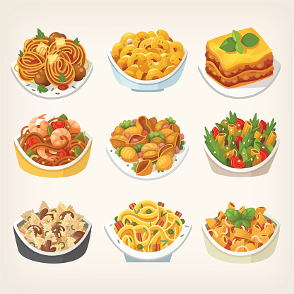 Kinds of pasta dishes