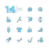Kinds of Sport - line icons set