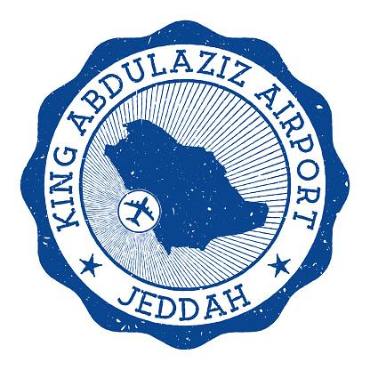 King Abdulaziz Airport Jeddah stamp..