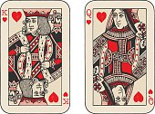 A pair of hand drawn playing cards.