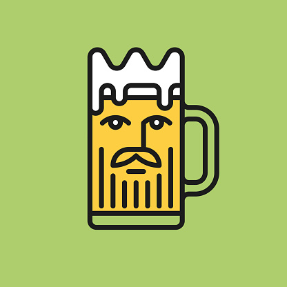 King beer line icon