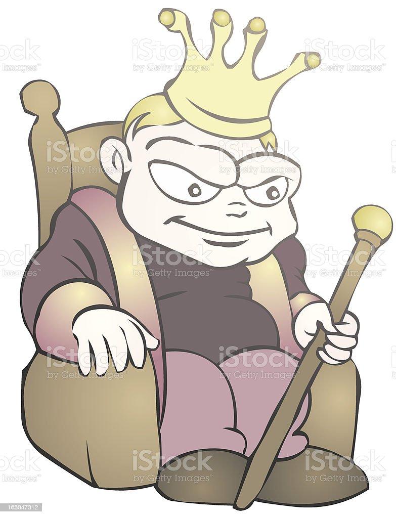 King Brat royalty-free stock vector art