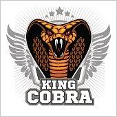 King cobra - mascot template design. Vector illustration.