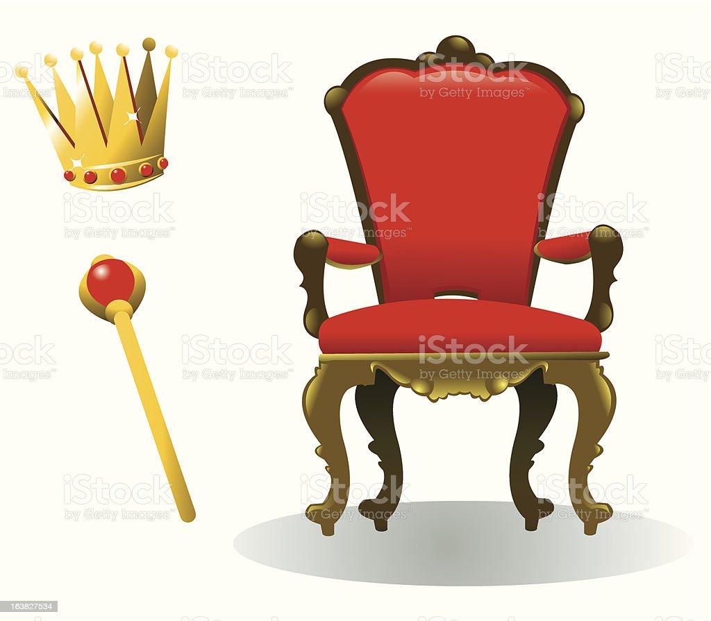 King Equipment vector art illustration