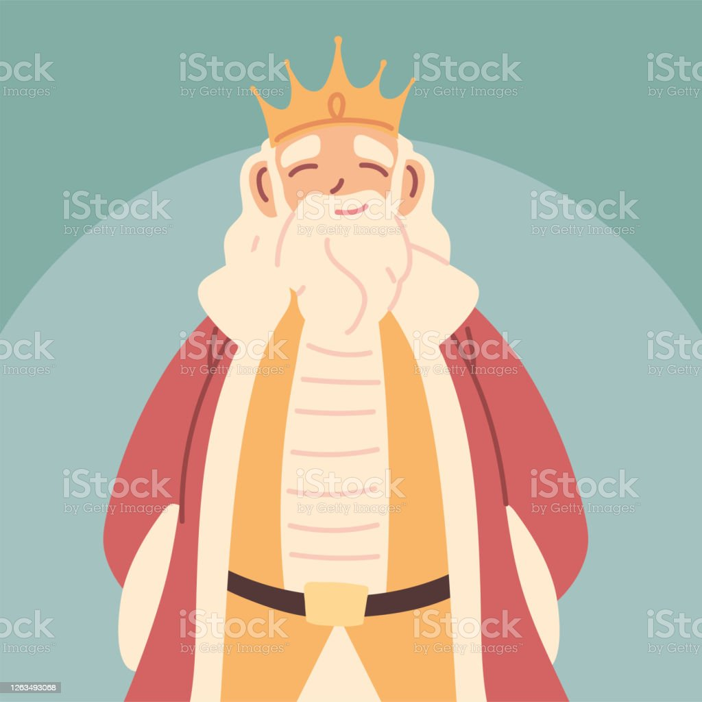 King Fat Man With Crown And Royal Robes Monarch Stock Illustration Download Image Now Istock